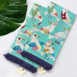 Anthropologie Kitchen - Anthropologie Luisa Cotton Dish Towels Set of Two